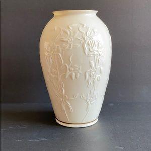 Lenox Embossed Floral Vase
